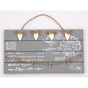 Zawieszka / ozdoba dekoracja tabliczka drewniana wisząca Altom Design prostokątna (4 wzory)