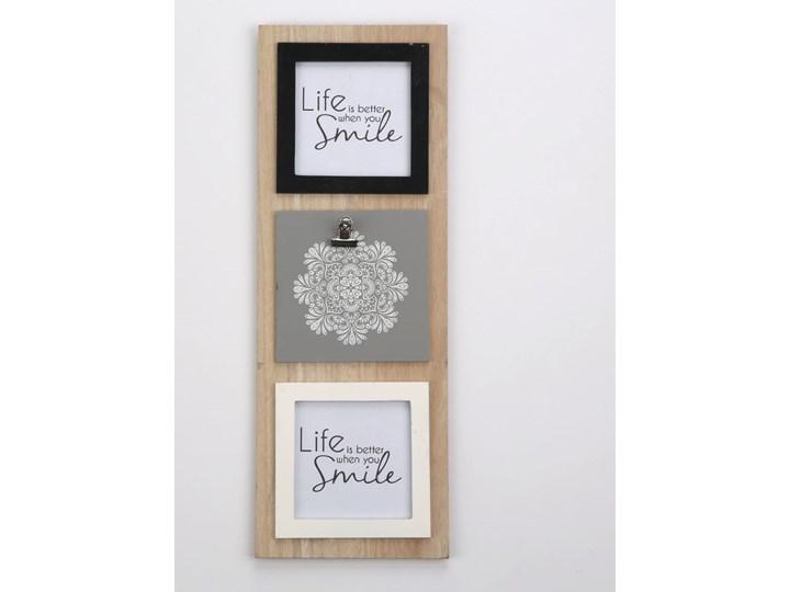 Tablica na zdjęcia wisząca drewniana Altom Design Mandala 15 x 42 cm (2 zdjęcia 10 x 10 cm) Drewno Multiramka Kategoria Ramy i ramki na zdjęcia