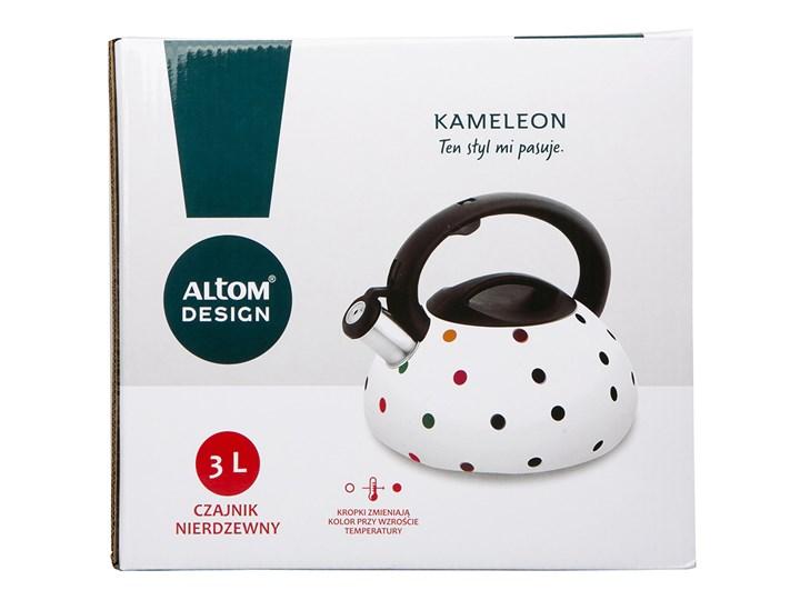 Czajnik zmieniający kolor na gaz i indukcję z gwizdkiem ze stali nierdzewnej Altom Design Kameleon 3,0 l Kolor Biały Pojemność 3 l