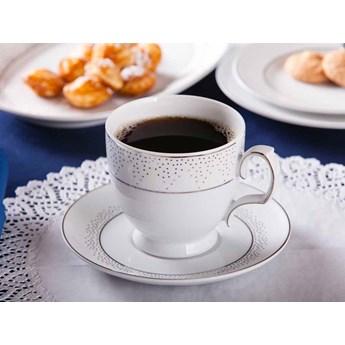 Filiżanka do cappuccino ze spodkiem porcelana MariaPaula Snow 350 ml