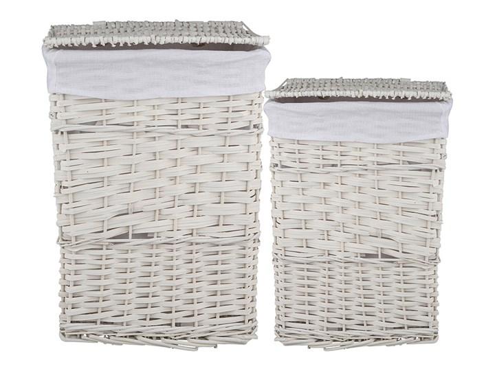 Kosz na pranie / bieliznę / brudownik wiklinowy z pokrywą Altom Design biały, zestaw 2 koszy Wiklina Kategoria