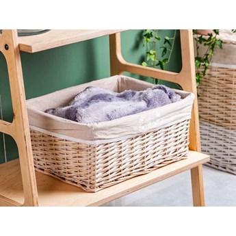 Koszyk wiklinowy do przechowywania / łazienkowy Altom Design Białe Wzory