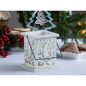 Latarenka / latarnia / lampion ozdobny wiszący Altom Design drewniany