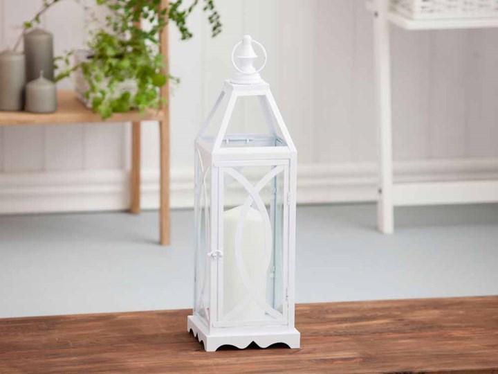 Latarenka / latarnia/ lampion ozdobny wiszący Altom Design metalowy Kategoria Świeczniki i świece Kolor Biały