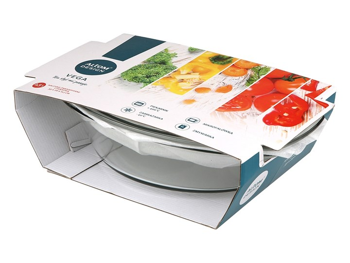 Naczynie do zapiekania żaroodporne z pokrywą Altom Design Vega owalne 2,5 l Kategoria Naczynia do zapiekania Kolor Przezroczysty