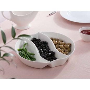 Dipówki / naczynie salaterka do dipów i przekąsek 3-dzielna porcelana Altom Design Regular 25 cm
