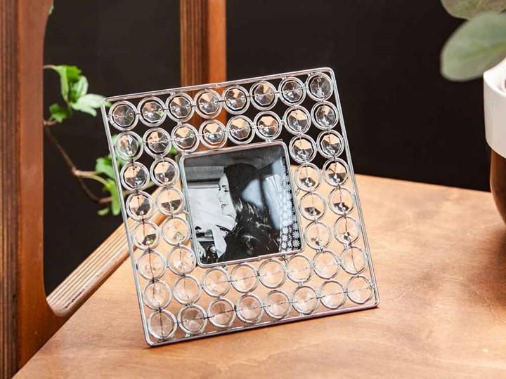 Ramka na zdjęcie z kryształkami kwadratowa Altom Design 16,5 cm Kategoria Ramy i ramki na zdjęcia Ramka na zdjęcia Pomieszczenie Sypialnia