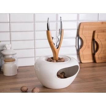 Salaterka / miska na orzechy z bambusowym uchwytem i dziadkiem do orzechów porcelana Altom Design Regular