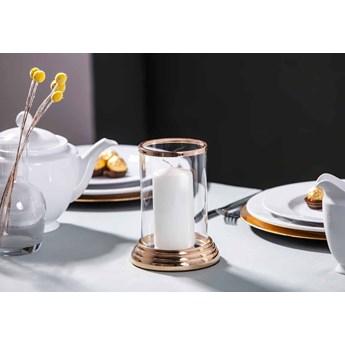 Świecznik / lampion dekoracyjny szklany Altom Design Złoty 17 cm