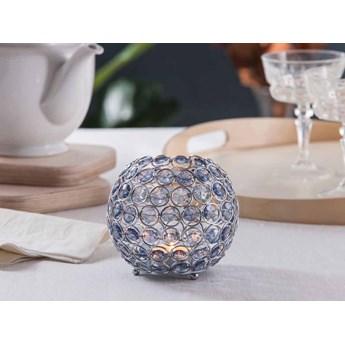Świecznik ozdobny kula z kryształkami na tealight / podgrzewacze Altom Design Sky