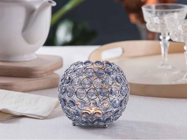 Świecznik ozdobny kula z kryształkami na tealight / podgrzewacze Altom Design Sky Kategoria Świeczniki i świece Kolor Szary