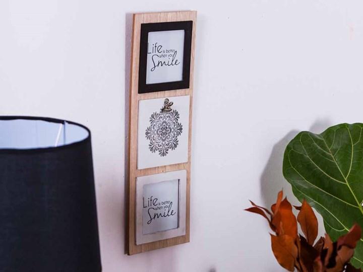 Tablica na zdjęcia wisząca drewniana Altom Design Mandala 15 x 42 cm (2 zdjęcia 10 x 10 cm) Kategoria Ramy i ramki na zdjęcia Drewno Multiramka Pomieszczenie Salon