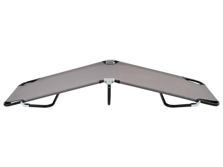 vidaXL Składany leżak, szary, stal Składane Metal Kategoria Leżaki ogrodowe