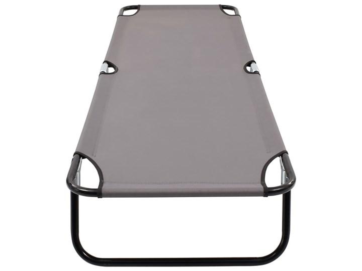 vidaXL Składany leżak, szary, stal Metal Składane Kategoria Leżaki ogrodowe
