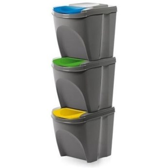 Kosz na śmieci PROSPERPLAST Sortibox IKWB20S3-405U (3x25l) Szary