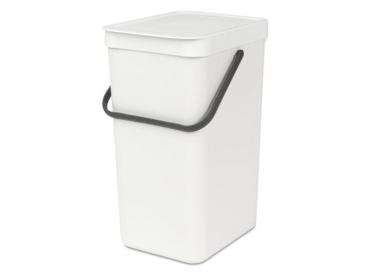 Kosz kuchenny do segregacji odpadów 16L Brabantia Sort Go biały kod: 10 99 42 Kosz do segregacji Tworzywo sztuczne Pojemność 40 l