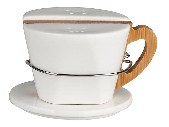 Zestaw do przypraw / solniczka i pieprzniczka na podstawie bambusowej porcelana Altom Design Regular, komplet 2 przyprawników Ceramika Kategoria Przyprawniki