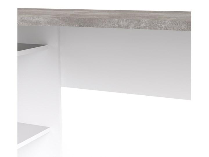 Biurko narożne Function 118 biały/beton Styl Nowoczesny Biurko z nadstawką Szerokość 145 cm Głębokość 81 cm Kategoria Biurka