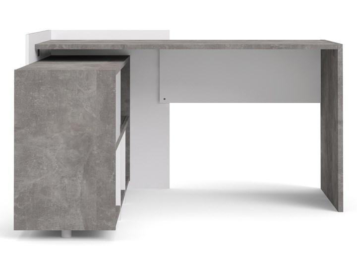 Biurko z regałem Function Extra 4 biały/beton Szerokość 140 cm Biurko narożne Głębokość 120 cm Biurko z nadstawką Kategoria Biurka