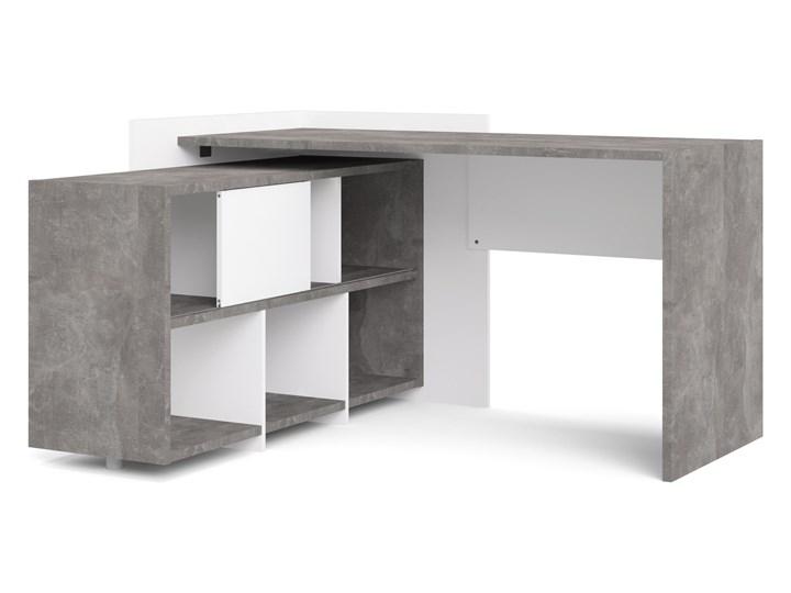 Biurko z regałem Function Extra 4 biały/beton