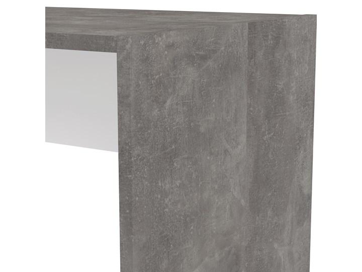 Biurko z regałem Function Extra 4 biały/beton Szerokość 140 cm Głębokość 120 cm Biurko z nadstawką Biurko narożne Styl Nowoczesny