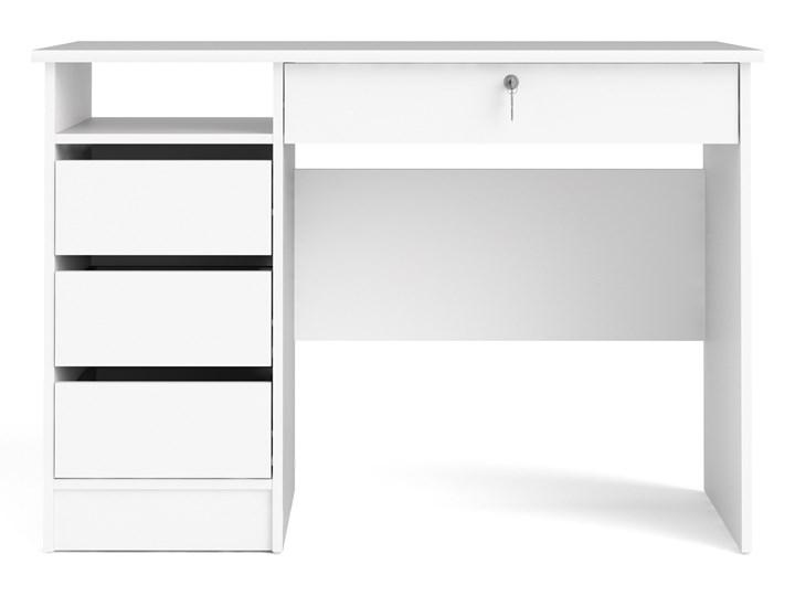 Biurko z szufladami Function 4S biały Szerokość 110 cm Głębokość 49 cm Biurko z nadstawką Biurko tradycyjne Styl Nowoczesny Pomieszczenie Pokój nastolatka