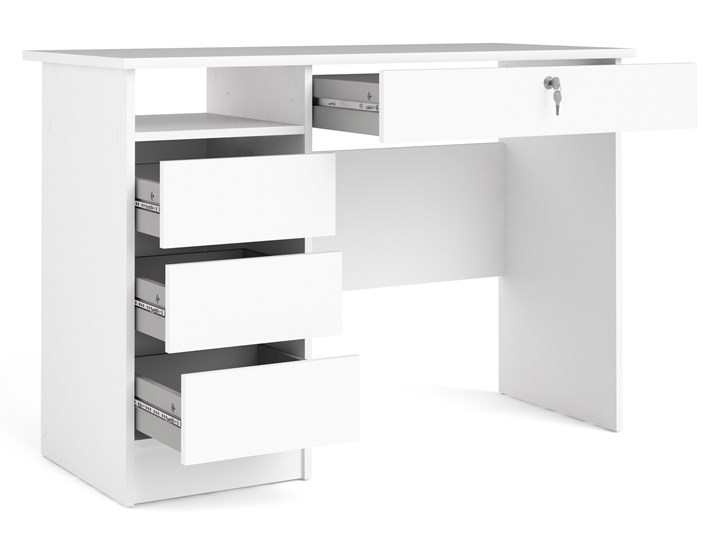 Biurko z szufladami Function 4S biały Szerokość 110 cm Biurko z nadstawką Głębokość 49 cm Biurko tradycyjne Pomieszczenie Pokój nastolatka