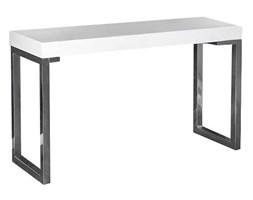nowoczesne biurko haga - biały połysk
