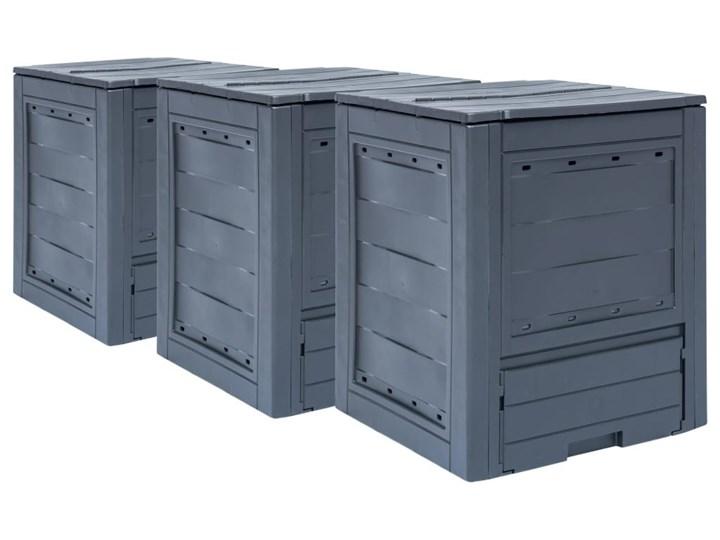 VidaXL Kompostowniki ogrodowe, 3 szt., szare, 60x60x73 cm, 780 L Tworzywo sztuczne Typ