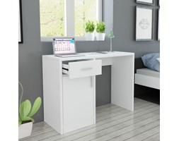 VidaXL Biurko z szufladą i szafką w kolorze białym 100x40x73 cm