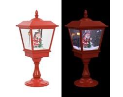 VidaXL Świąteczna latarenka stojąca z Mikołajem, 64 cm, LED
