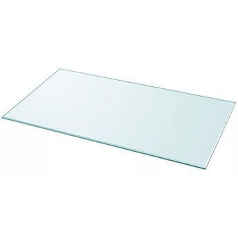 VidaXL Blat stołu szklany, prostokątny 1200x650 mm
