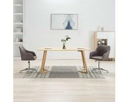 VidaXL Obrotowe krzesła do jadalni, 2 szt., taupe, tkanina