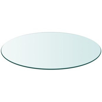VidaXL Blat stołu szklany, okrągły 800 mm