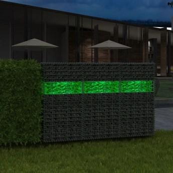 VidaXL Kamienie gabionowe 60-120 mm, 25 kg, zielone szkło