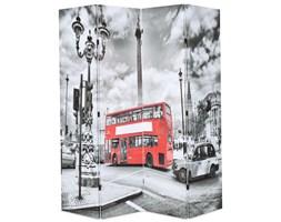 VidaXL Składany parawan, 160x170 cm, londyński autobus, czarno-biały