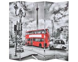 VidaXL Składany parawan, 200 x 170 cm, londyński autobus, czarno-biały