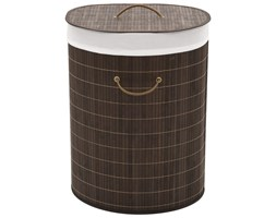 VidaXL Bambusowy kosz na pranie owalny, ciemnobrązowy kolor