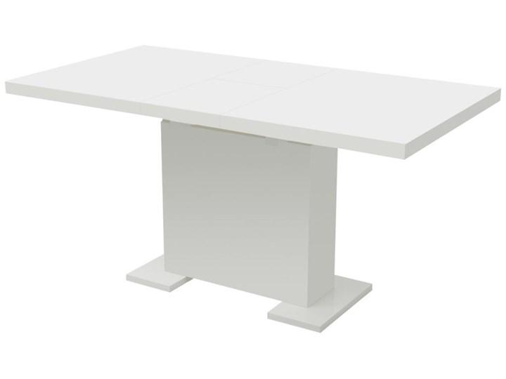 VidaXL Stół do jadalni rozkładany, extra lśniący biały Kolor Szary