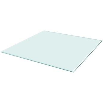 VidaXL Blat stołu szklany, kwadratowy 800x800 mm