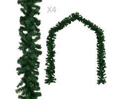 VidaXL Girlandy świąteczne, 4 szt., zielone, 270 cm, PVC