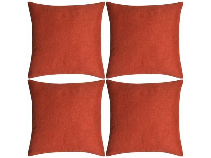 VidaXL Poszewki na poduszki 4 szt. lniane, terakota 80x80 cm