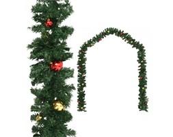 VidaXL Girlanda świąteczna ozdobiona bombkami, 20 m