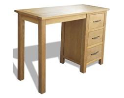 VidaXL Biurko z 3 szufladami, 106x40x75 cm, lite drewno dębowe