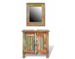 Drewniana szafka łazienkowa z lustrem