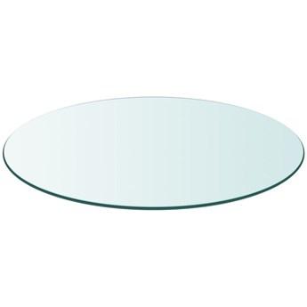 VidaXL Blat stołu szklany, okrągły, 700 mm
