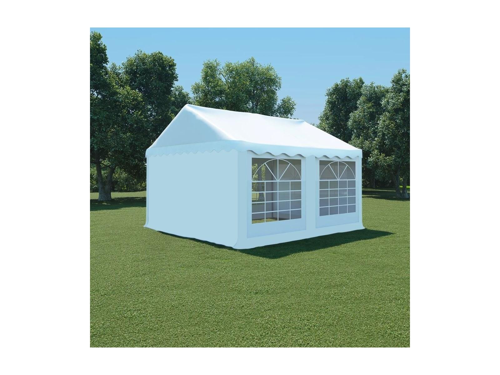 vidaXL Namiot ogrodowy z zasłonami, 4 x 3 m, biały Ceny i