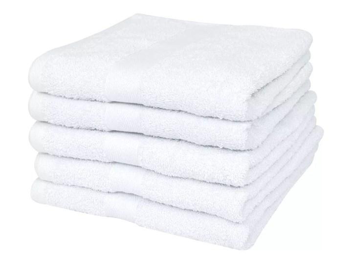 VidaXL Ręczniki kąpielowe, 25 szt, bawełna 400 g/m², 100x150 cm, białe
