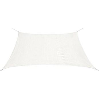 VidaXL Żagiel przeciwsłoneczny HDPE prostokątny 2x4 m, biały