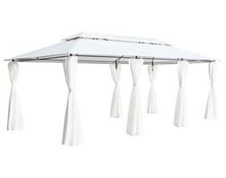 VidaXL Altana z zasłonami, 600x298x270 cm, biała